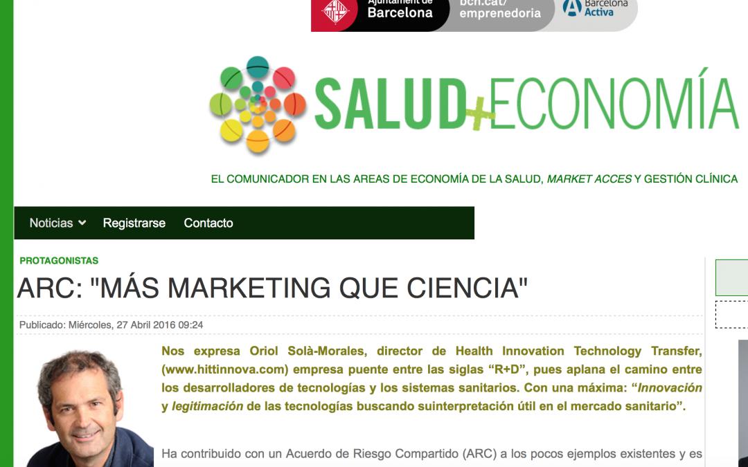 """Acuerdos de Riesgo Compartido: """"Más marketing que ciencia"""""""