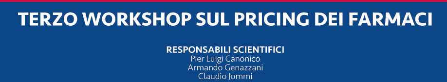 Third workshop on drugs pricing in Milan